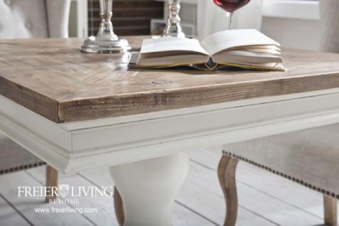 quadratischer esstisch beistelltisch alt wei shabby chic franz sischer wohnstil kaufen bei. Black Bedroom Furniture Sets. Home Design Ideas