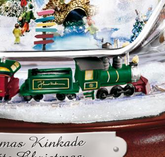 Beleuchtete Weihnachtsfigur Kinkade Kristall Schneemann - Vorschau 2