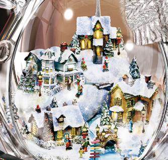 Beleuchtete Weihnachtsfigur Kinkade Kristall Schneemann - Vorschau 3