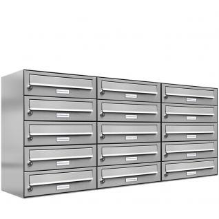 15er 3x5 Edelstahl Briefkastenanlage Premium - Vorschau