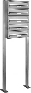 5er Edelstahl Stand Briefkasten Anlage Premium