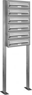 6er Edelstahl Stand Briefkasten Premiumanlage