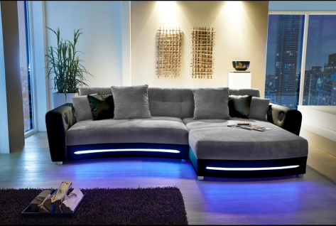 garnitur leder couch online bestellen bei yatego. Black Bedroom Furniture Sets. Home Design Ideas
