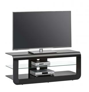 tv rack in hochglanz schwarz und schwarzglas kaufen bei lifestyle4living m belvertrieb gmbh. Black Bedroom Furniture Sets. Home Design Ideas