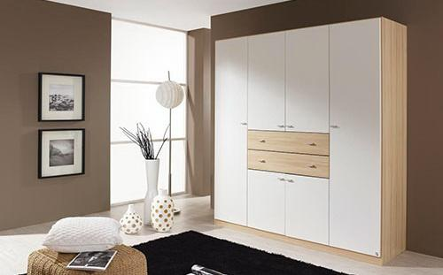 kleiderschrank wei buche breite 181 cm kaufen bei lifestyle4living m belvertrieb gmbh co kg. Black Bedroom Furniture Sets. Home Design Ideas