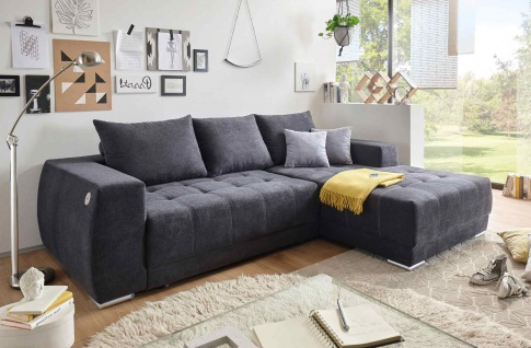ecksofa anthrazit g nstig online kaufen bei yatego. Black Bedroom Furniture Sets. Home Design Ideas