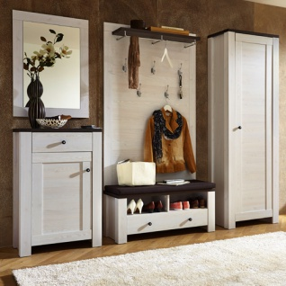 garderobe landhaus l rche pinie kaufen bei lifestyle4living m belvertrieb gmbh co kg. Black Bedroom Furniture Sets. Home Design Ideas