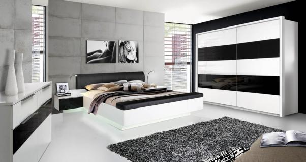 komplett schlafzimmer schwarz wei online kaufen yatego. Black Bedroom Furniture Sets. Home Design Ideas