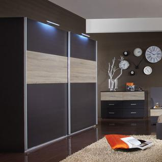 schlafzimmer anthrazit eiche s gerau kaufen bei lifestyle4living m belvertrieb gmbh co kg. Black Bedroom Furniture Sets. Home Design Ideas