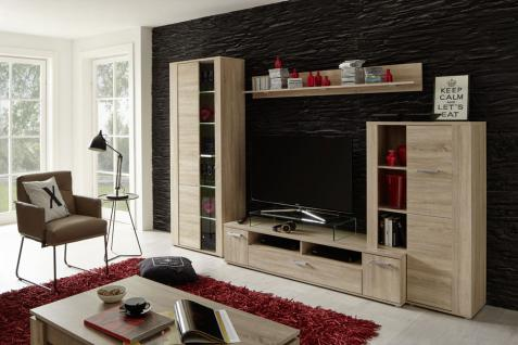 wohnwand eiche s gerau hell g nstig online kaufen yatego. Black Bedroom Furniture Sets. Home Design Ideas