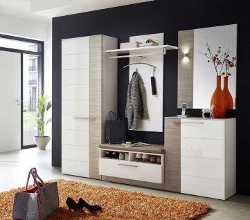garderobe set wei hochglanz g nstig online kaufen yatego. Black Bedroom Furniture Sets. Home Design Ideas