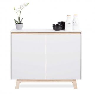 kommode eiche sonoma weiss online kaufen bei yatego. Black Bedroom Furniture Sets. Home Design Ideas