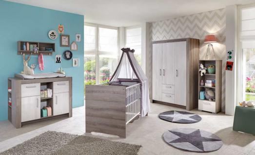babyzimmer in esche grau nb und scandic wood wei kaufen bei lifestyle4living m belvertrieb. Black Bedroom Furniture Sets. Home Design Ideas