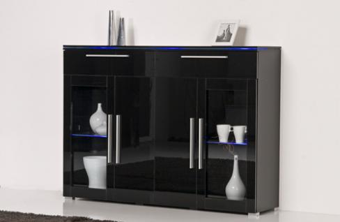 highboard schwarz hochglanz g nstig online kaufen yatego. Black Bedroom Furniture Sets. Home Design Ideas