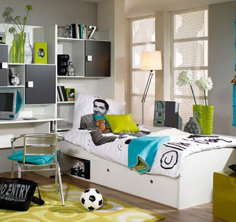 jugendzimmer wei grau kaufen bei lifestyle4living. Black Bedroom Furniture Sets. Home Design Ideas