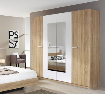 spiegel kleiderschrank sonoma eiche online kaufen yatego. Black Bedroom Furniture Sets. Home Design Ideas
