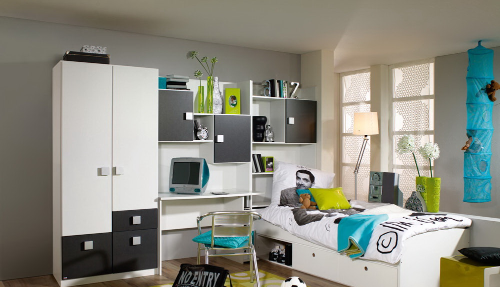 jugendzimmer wei grau kaufen bei lifestyle4living m belvertrieb gmbh co kg. Black Bedroom Furniture Sets. Home Design Ideas