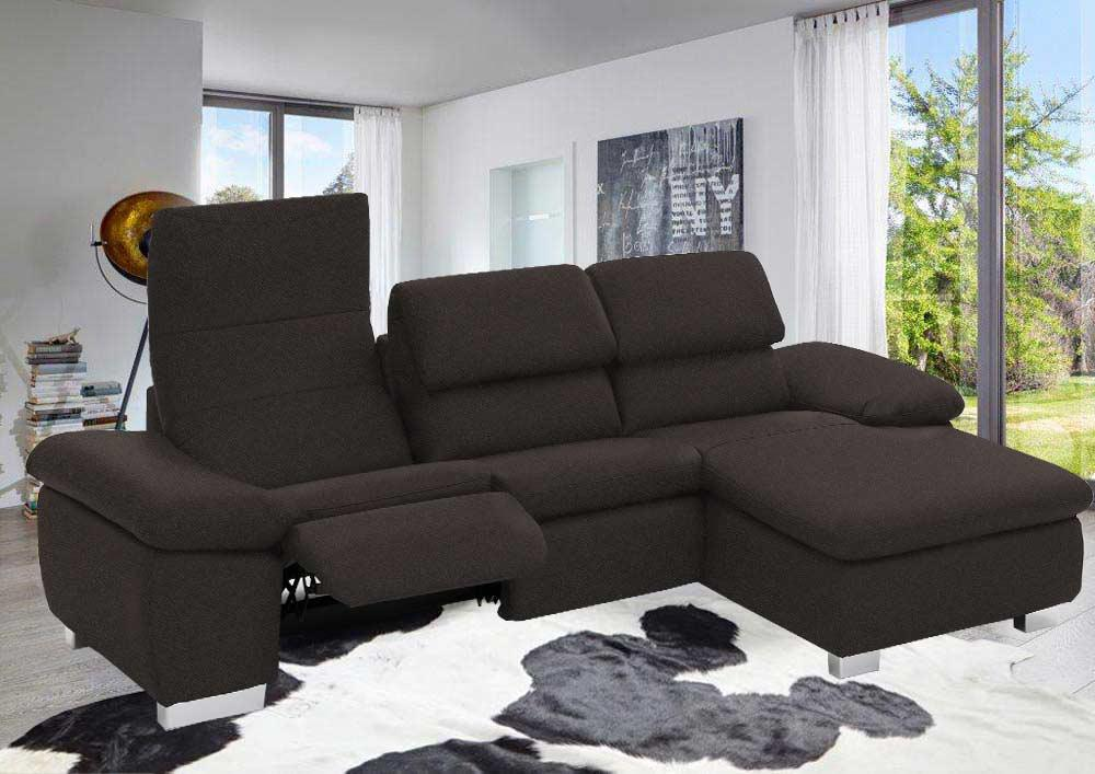 ecksofa in grau braunem webstoff kaufen bei lifestyle4living m belvertrieb gmbh co kg. Black Bedroom Furniture Sets. Home Design Ideas