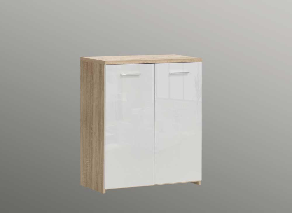 kommode in sonoma eiche wei kaufen bei lifestyle4living. Black Bedroom Furniture Sets. Home Design Ideas