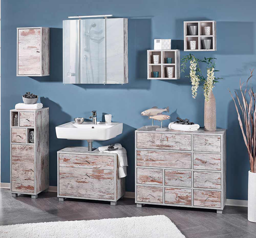 badm bel set in eiche antik dekor kaufen bei lifestyle4living m belvertrieb gmbh co kg. Black Bedroom Furniture Sets. Home Design Ideas
