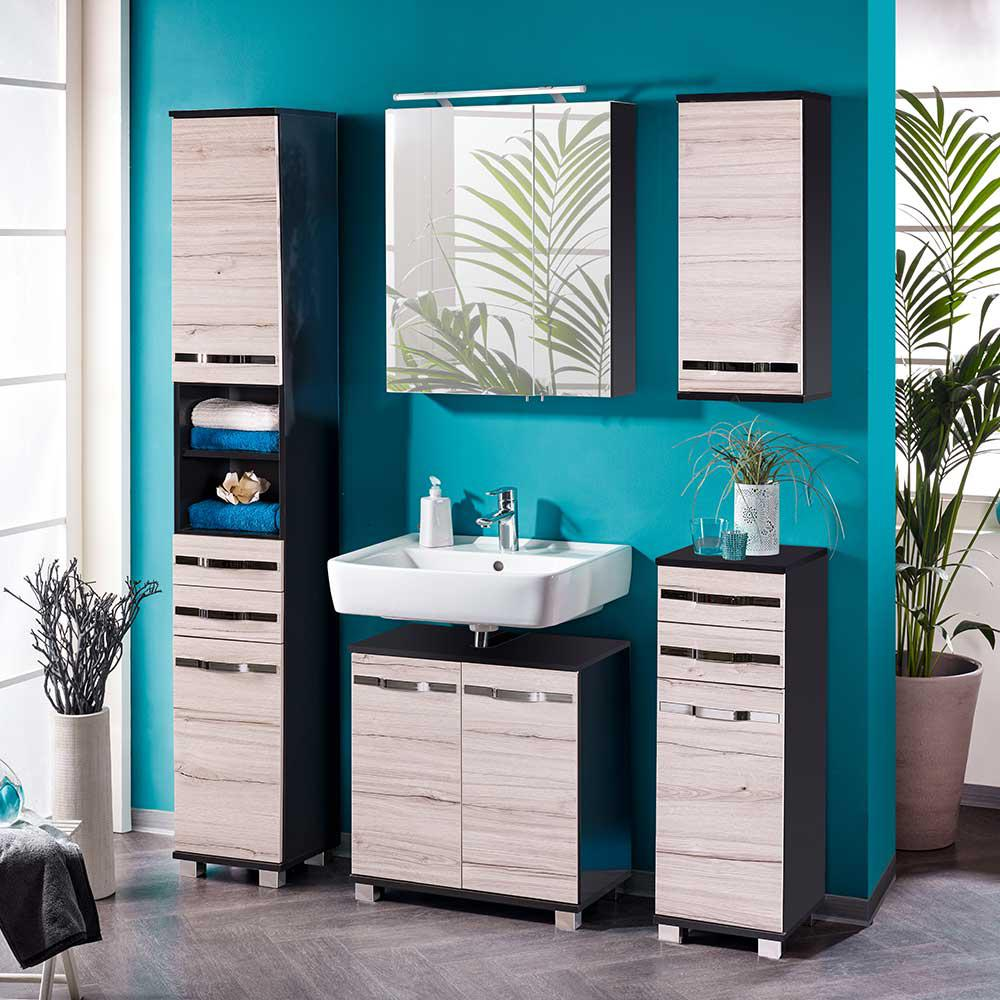 badm bel set in anthrazit kalkeiche nb kaufen bei lifestyle4living m belvertrieb gmbh co kg. Black Bedroom Furniture Sets. Home Design Ideas