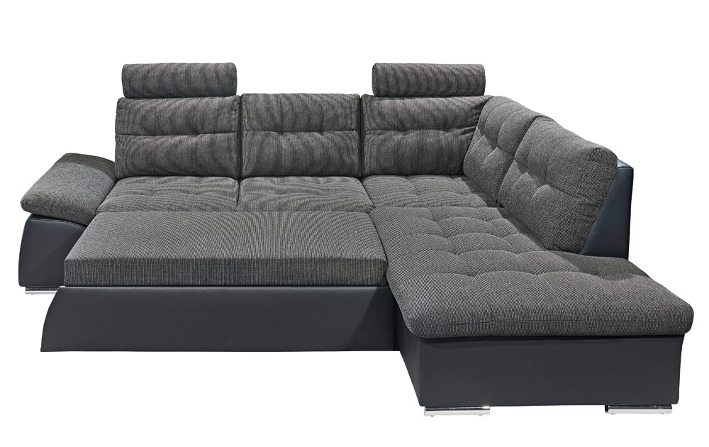 ecksofa webstoff in lava kunstleder in schwarz kaufen. Black Bedroom Furniture Sets. Home Design Ideas