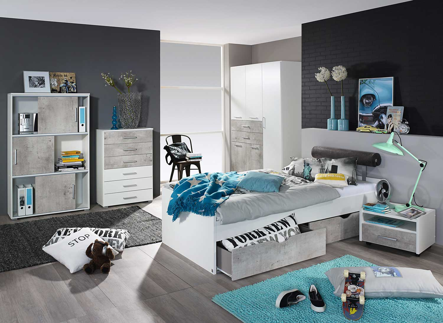 jugendzimmer komplett g nstig. Black Bedroom Furniture Sets. Home Design Ideas