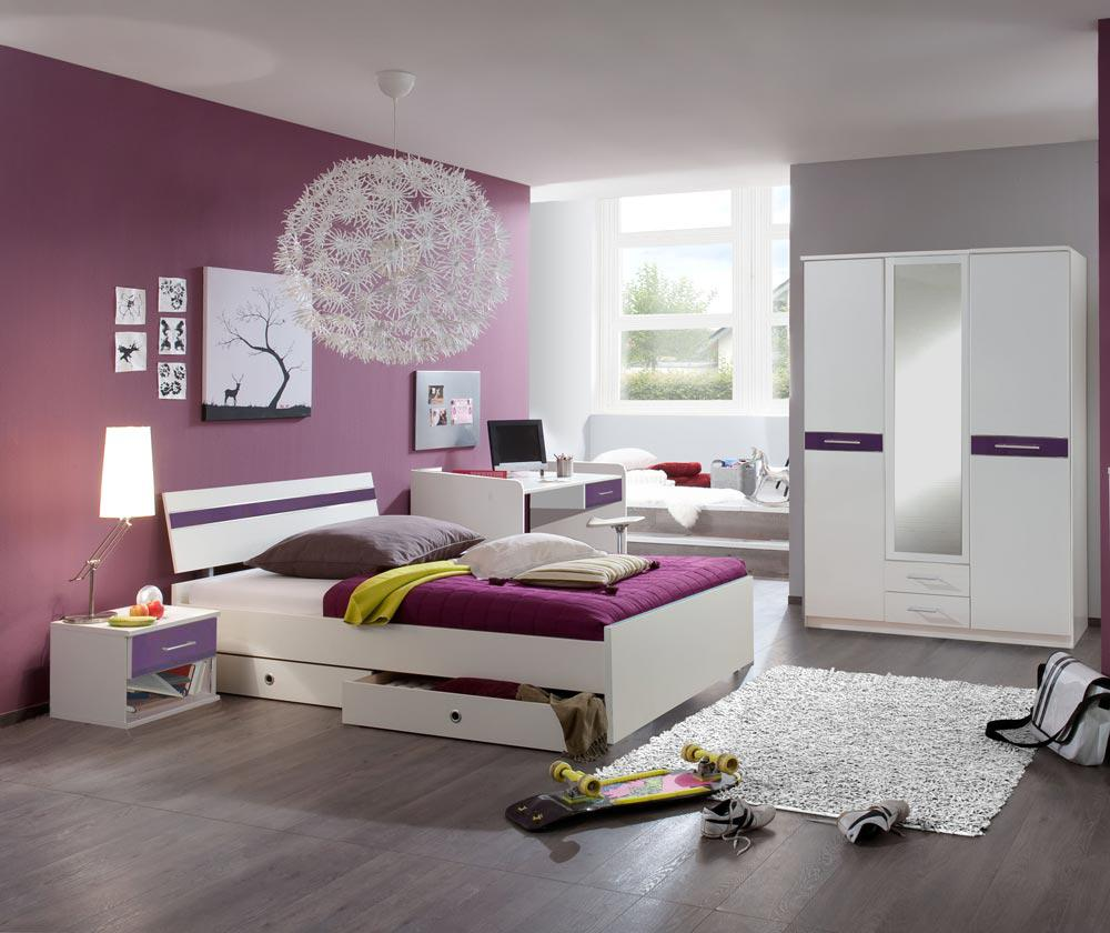 jugendzimmer alpinwei matt brombeer kaufen bei. Black Bedroom Furniture Sets. Home Design Ideas