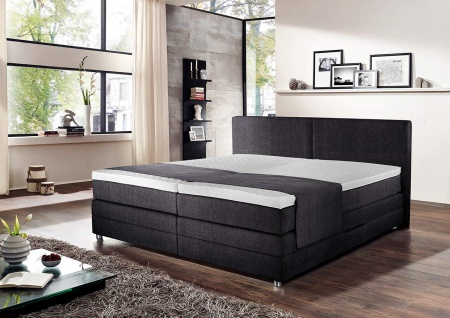 betten 180x200 grau online bestellen bei yatego. Black Bedroom Furniture Sets. Home Design Ideas