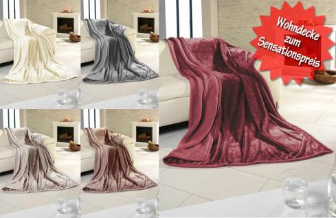 Wohndecke in rot, 100% Polyester