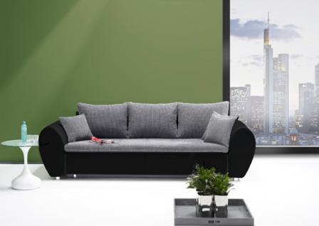big sofa in schwarz grau kaufen bei lifestyle4living. Black Bedroom Furniture Sets. Home Design Ideas