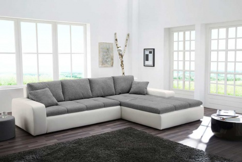 ecksofa weiss grau g nstig online kaufen bei yatego. Black Bedroom Furniture Sets. Home Design Ideas