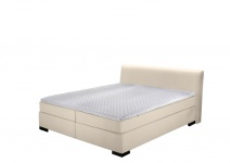 Boxspringbett in Creme