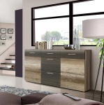Sideboard in Eiche Antik-NB und braunen Touchwood
