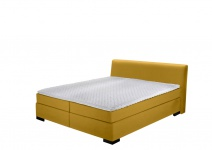 Boxspringbett in gelb