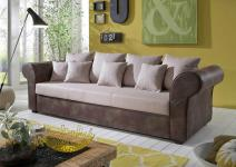Big Sofa in braun-beige