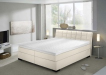Boxspringbett in beige