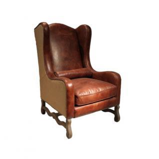 Ohrensessel Alton classic Vintage-Leder - Vorschau 1