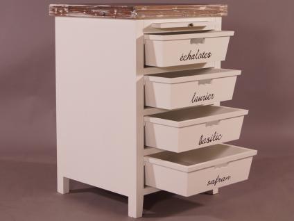 Küchenregal Dijon Landhaus Stil Holz Vintage Look creme weiß - Vorschau 3