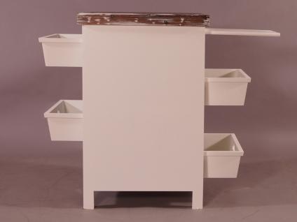 Küchenregal Dijon Landhaus Stil Holz Vintage Look creme weiß - Vorschau 4