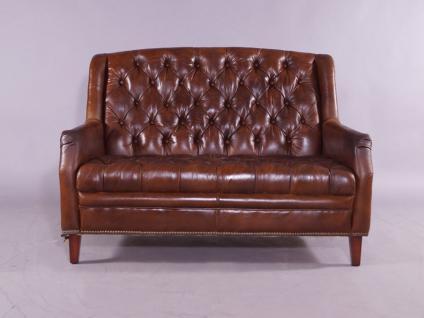 ledersofa cardiff 2 sitzer im chesterfield look leder vintage cigar kaufen bei mehl wohnideen. Black Bedroom Furniture Sets. Home Design Ideas