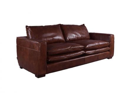 Clubsofa Burlington 2, 5-Sitzer Montaigne Brown Vintage Leder 1