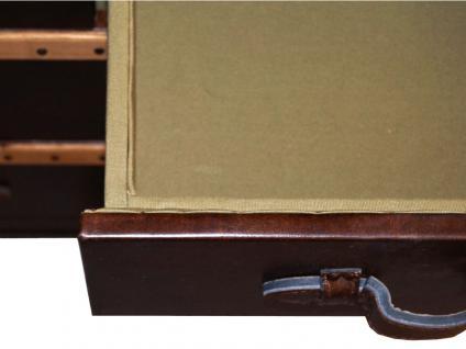 Kommode Richmond Vintage Leder Holz Leinen braun Vintage Cigar - Vorschau 5