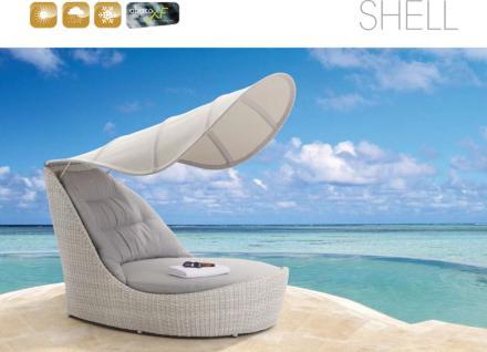 Shell Sunlounger Gartenliege Harkers Island Wash
