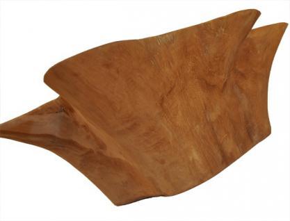 Teak Holz Teakholz Stern Schale Obstschale Obstkorb Deko - Vorschau 2