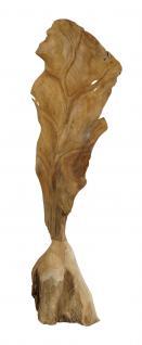 "Wohndekoration Teakholz-Skulptur / Teakholz ""Blatt"" S"