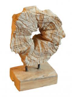 Wohndekoration Skulptur aus Teak-Wurzel / Teakholz, Scheibe mit Loch