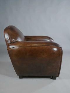 clubsessel art deco leder vintage cigar kaufen bei mehl wohnideen. Black Bedroom Furniture Sets. Home Design Ideas