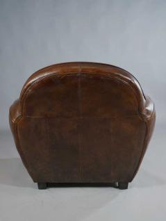 "Clubsessel ""Art Deco"" Leder Vintage Cigar - Vorschau 5"