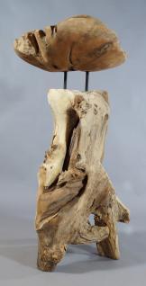 """Wohndekoration Skulptur """"Schale auf Teakwurzel"""" - Vorschau 2"""